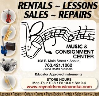 Rentals, Lessons, Sales, Repairs