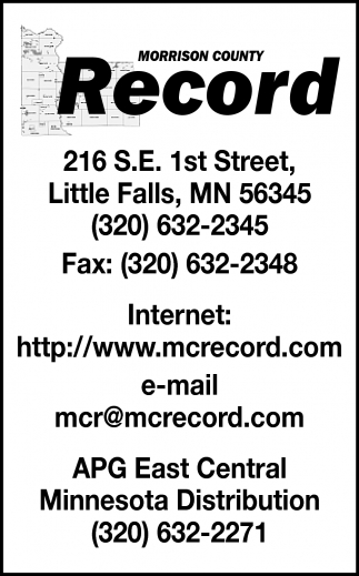Morrison County Record | hometownsource com