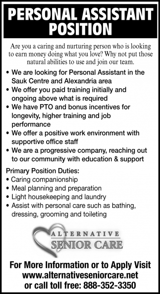 Personal Assistant Position