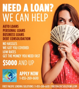 Need a Loan? We Can Help