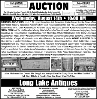 Auction Wednesday, August 14th