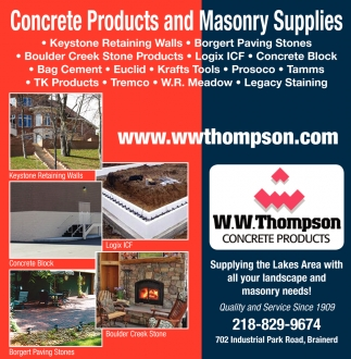 Concrete Products and Masonry Supplies