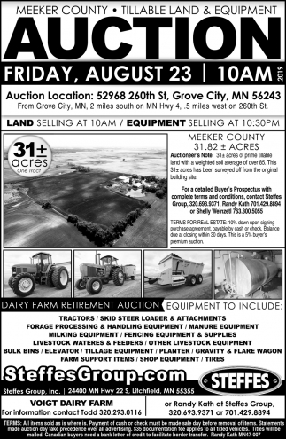 Auction Friday, August 23