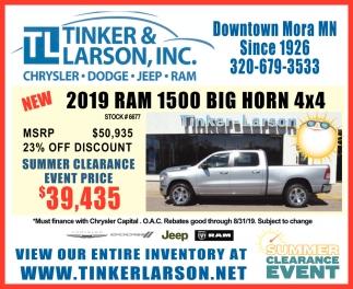 2019 RAM 1500 Big Horn 4x4