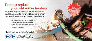 Time to Replace Your Old Water Heater?