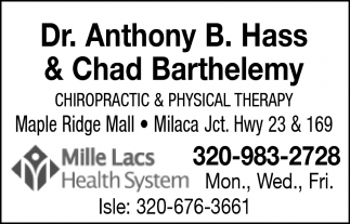 Dr. Anthony B. Hass & Chad Barthelemy