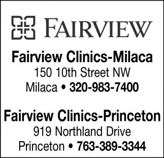 Fairview Clinics-Milaca & Fairview Clinics-Princeton