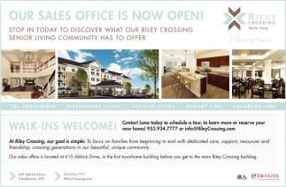 Our Sales Office is Now Open!