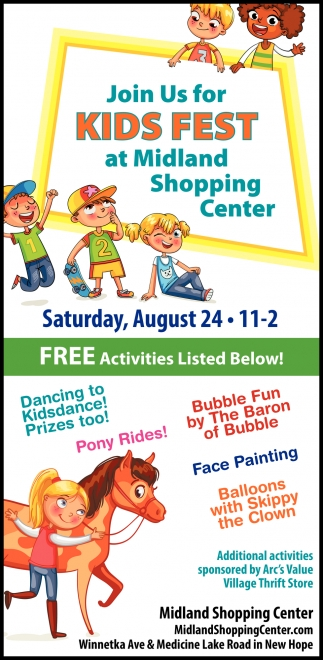 Join Us for Kids Fest at Midland Shopping Center