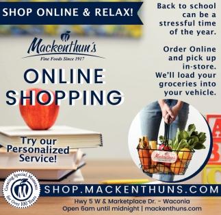 Shop Online & Relax!