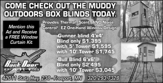 Come Check out the Muddy Outdoors Box Blinds Today