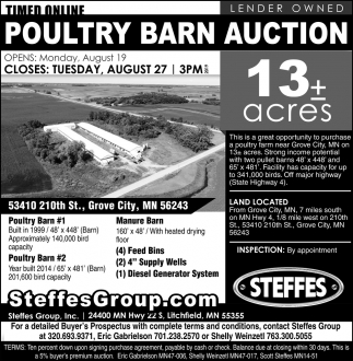 Poultry Barn Auction