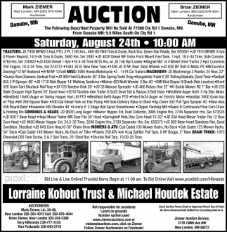 Auction Saturday, August 24th