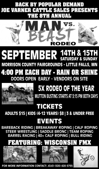 8th Annual Man vs Beast Rodeo