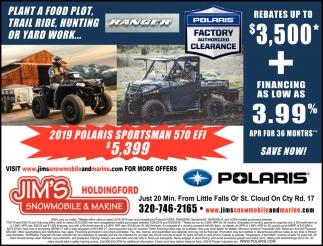 2019 Polaris Sportsman 570 EFI