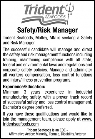 Safety/ Risk Manager
