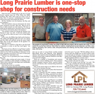 Long Prairie Lumber is One-Stop Shop for Construction Needs