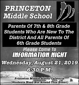 Please Come to Information Night