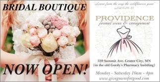 Bridal Boutique Now Open!