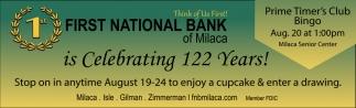 Celebrating 122 Years!