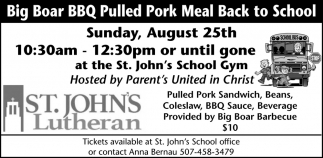 Big Roar BBQ Pulled Pork Meal Back to School