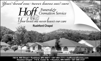 Your Loved One Never Leaves Our Care