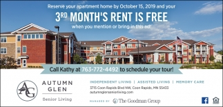 3rd Month's Rent is FREE