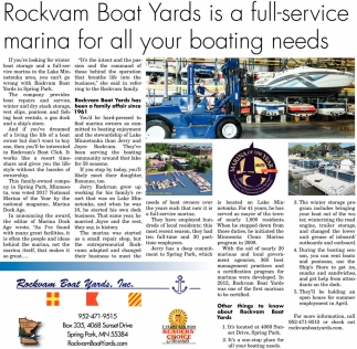 Rockvam Boat Yards is a Full-Service Marina for All Your Boating Needs