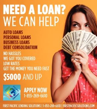 Need a Loan? We Can Help