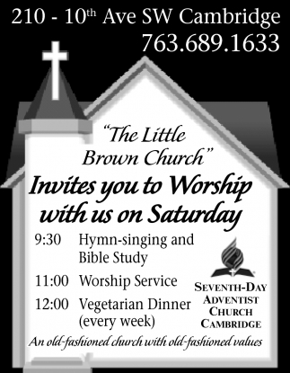 The Little Brown Church Invites You to Worship With Us on Saturday