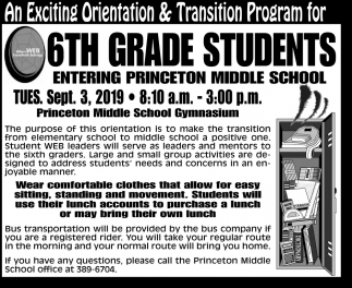 An Exciting Orientation & Transition Program
