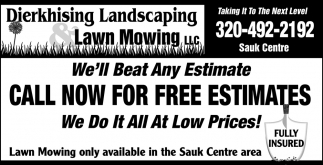 Call Now for FREE Estimates