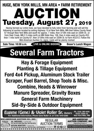 Several Farm Tractors