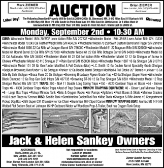 Auction Monday, September 2nd