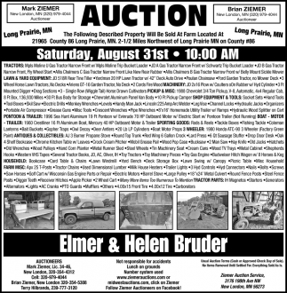 Auction Saturday, August 31st