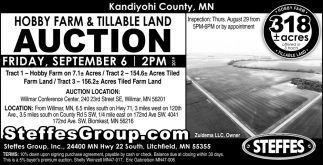 Hobby Farm & Tillable Land Auction