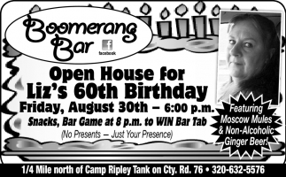 Open House for Liz's 60th Birthday