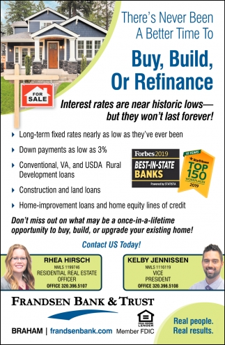 There's Never Been a Better Time to Buy, Build, or Refinance