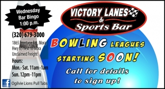 Bowling Leagues Starting Soon!