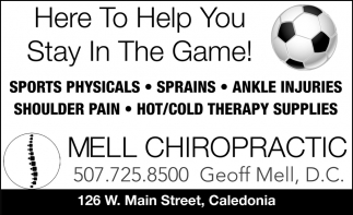 Here to Help You Stay in the Game!