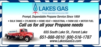 Call Us for All Your Propane Need