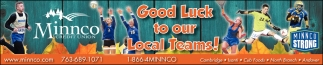Good Luck to our Local Teams!