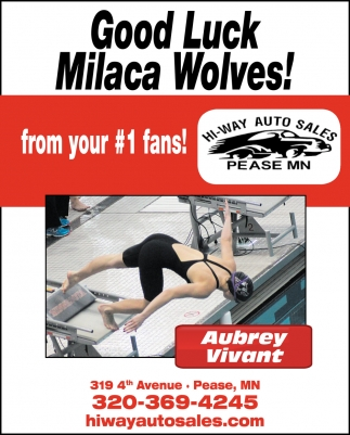 Good Luck Milaca Wolves!