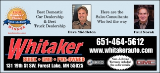 Best Domestic Car Dealership & Best Truck Dealership