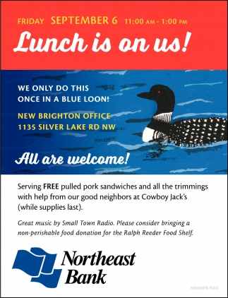 Lunch is On Us!