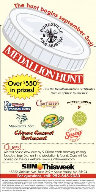 The Hunt Begins September 3rd!