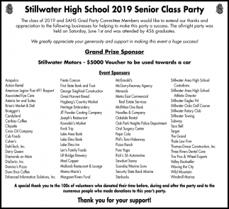 Stillwater High School 2019 Senior Class Party