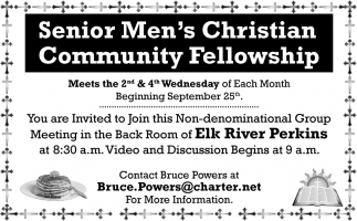 Senior Men's Christian Community Fellowship
