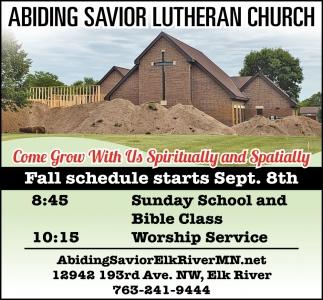 Come Grow with Us Spiritually & Spatially