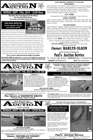 Real Estate & Personal Property Auction